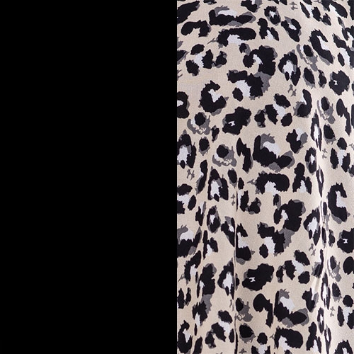 black + leopard print
